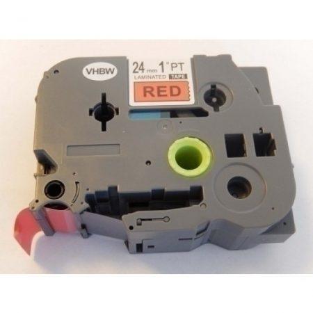 Brother TZe-451 P-Touch utángyártott feliratozószalag kazetta 24mm * 8m piros alapon fekete