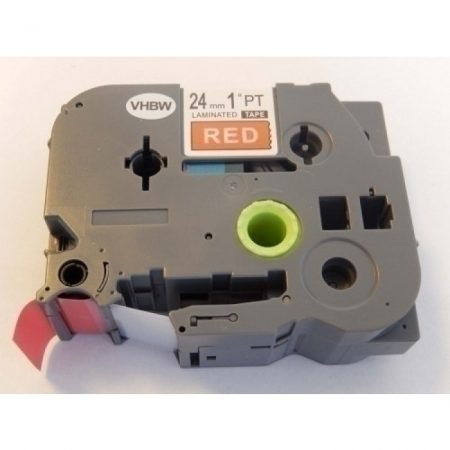 Brother TZe-455 P-Touch utángyártott feliratozószalag kazetta 24mm * 8m piros alapon fehér