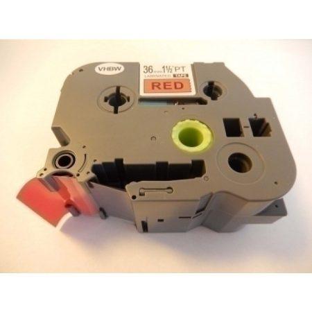 Brother TZE-461 piros alapon fekete 36mm * 8m utángyártott feliratozószalag
