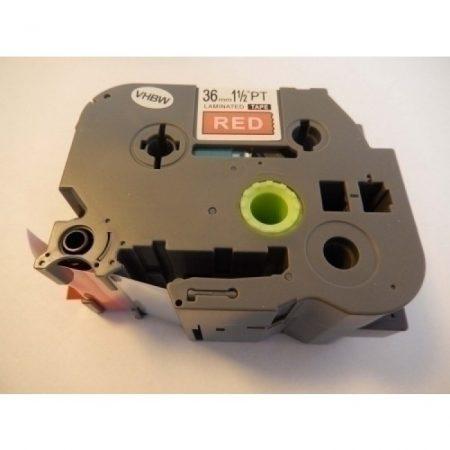 Brother TZE-465 utángyártott Piros alapon Fehér nyomtatás 36mm * 8m feliratozószalag kazetta