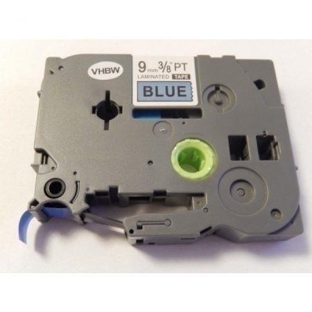 Brother TZe-521 P-Touch utángyártott feliratozószalag kazetta 9mm * 8m kék alapon fekete