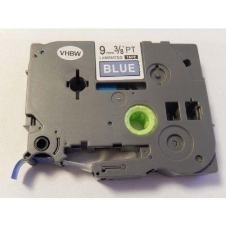 Brother TZe-525 P-Touch utángyártott feliratozószalag kazetta 9mm * 8m kék alapon fehér