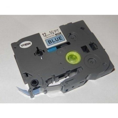 Brother TZe-531 P-Touch utángyártott feliratozószalag kazetta 12mm * 8m kék alapon fekete