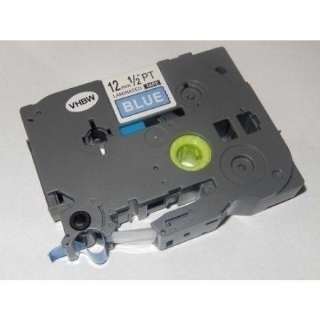 Brother TZe-535 P-Touch utángyártott feliratozószalag kazetta 12mm * 8m kék alapon fehér