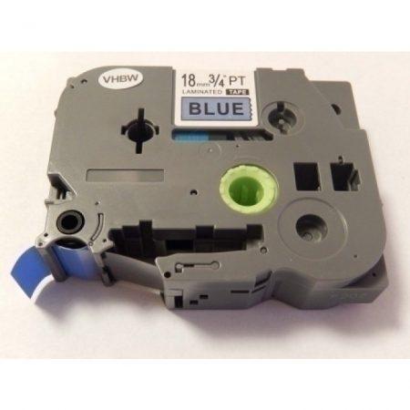 Brother TZE-541 utángyártott 18mm * 8m kék alapon fekete 18mm * 8m feliratozószalag kazetta
