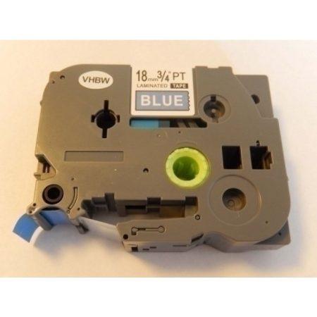 Brother TZe-545 P-Touch utángyártott feliratozószalag kazetta 18mm * 8m kék alapon fehér