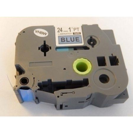Brother TZe-551 P-Touch utángyártott feliratozószalag kazetta 24mm * 8m kék alapon fekete