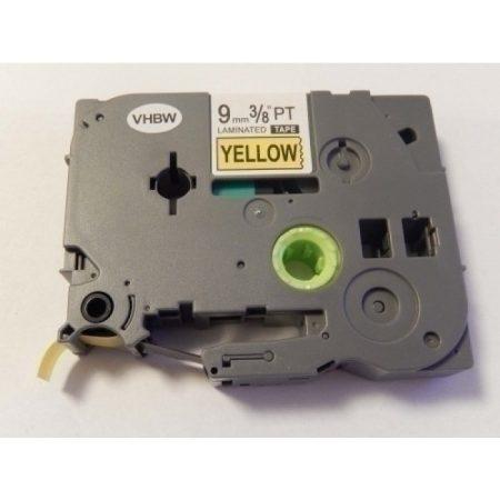 Brother TZe-621 P-Touch utángyártott feliratozószalag kazetta 9mm * 8m sárga alapon fekete