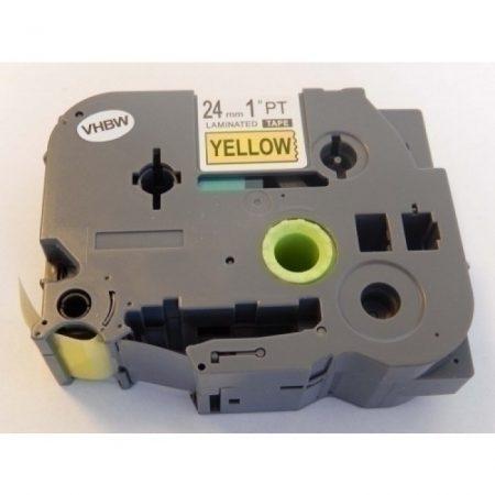 Brother TZe-651 P-Touch utángyártott feliratozószalag kazetta 24mm * 8m sárga alapon fekete
