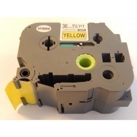 Brother TZe-661L P-Touch utángyártott feliratozószalag kazetta 36mm * 8m sárga alapon fekete