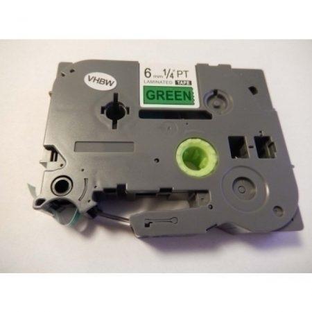 Brother TZe-711 P-Touch utángyártott feliratozószalag kazetta 6mm * 8m zöld alapon fekete