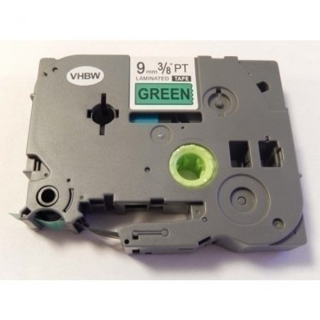 Brother TZE-721 utángyártott zöld alapon fekete 9mm * 8m feliratozószalag kazetta