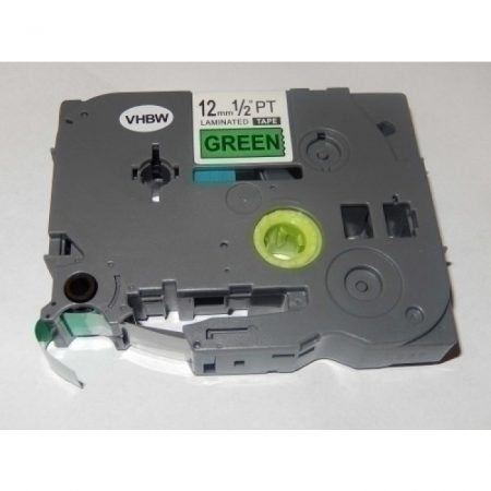 Brother TZe-731 P-Touch utángyártott feliratozószalag kazetta 12mm * 8m zöld alapon fekete