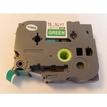 Brother TZe-745 P-Touch utángyártott feliratozószalag kazetta 18mm * 8m zöld alapon fehér