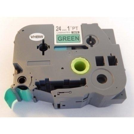 Brother TZe-751 P-Touch utángyártott feliratozószalag kazetta 24mm * 8m zöld alapon fekete