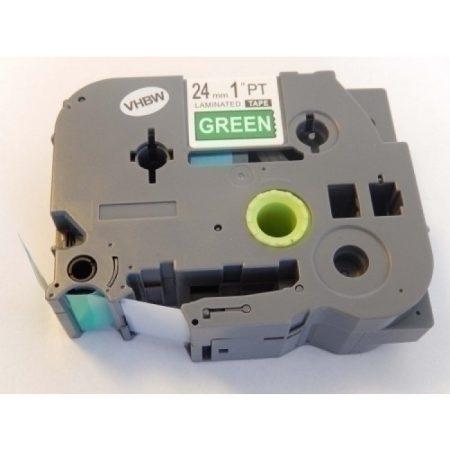 Brother TZe-755 P-Touch utángyártott feliratozószalag kazetta 24mm * 8m zöld alapon fehér