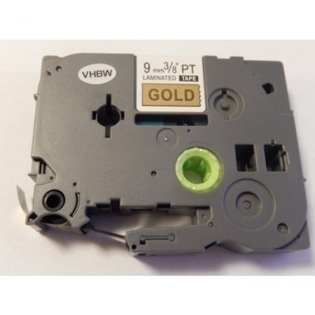 Brother TZe-821 P-Touch utángyártott feliratozószalag kazetta 9mm * 8m arany alapon fekete