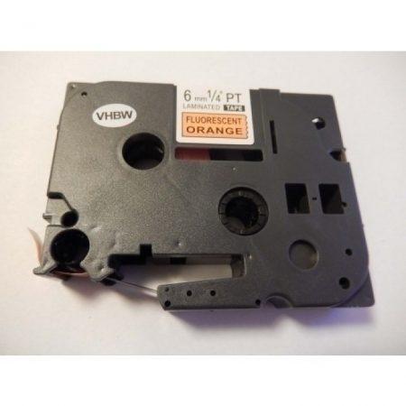 Brother TZe-B11 P-Touch utángyártott feliratozószalag kazetta 6mm * 8m fluoreszkáló narancssárga alapon fekete