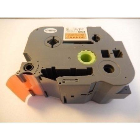Brother TZE-B261 utángyártott fluoreszkáló narancssárga alapon fekete nyomtatás 36mm * 8m feliratozószalag kazetta