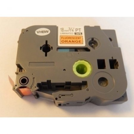 Brother TZe-b41 P-Touch utángyártott feliratozószalag kazetta 18mm * 8m fluoreszkáló narancssárga alapon fekete