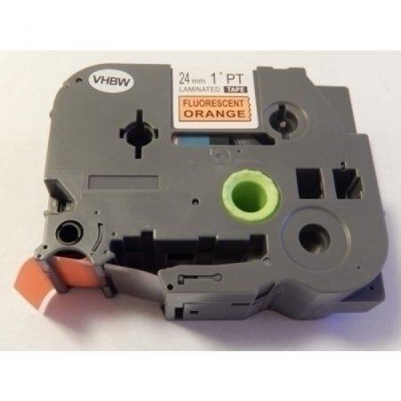 Brother TZe-B51 P-Touch utángyártott feliratozószalag kazetta 24mm * 8m fluoreszkáló narancssárga alapon fekete