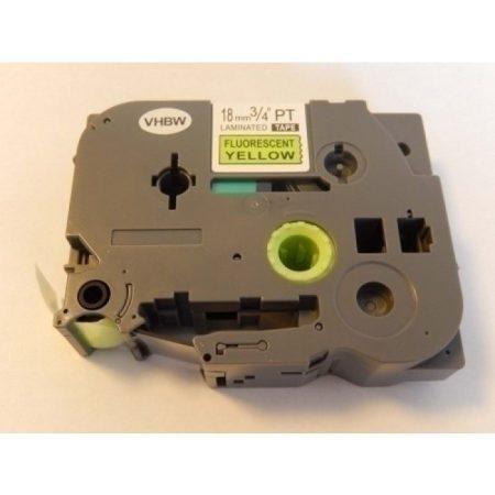 Brother TZe-C41 P-Touch utángyártott feliratozószalag kazetta 18mm * 8m fluoreszkáló sárga alapon fekete
