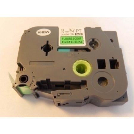 Brother TZe-D41 P-Touch utángyártott feliratozószalag kazetta 18mm * 8m fluoreszkáló zöld alapon fekete