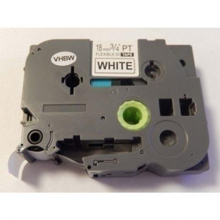 Brother TZe-FX241 P-Touch utángyártott feliratozószalag kazetta 18mm * 8m fehér alapon fekete