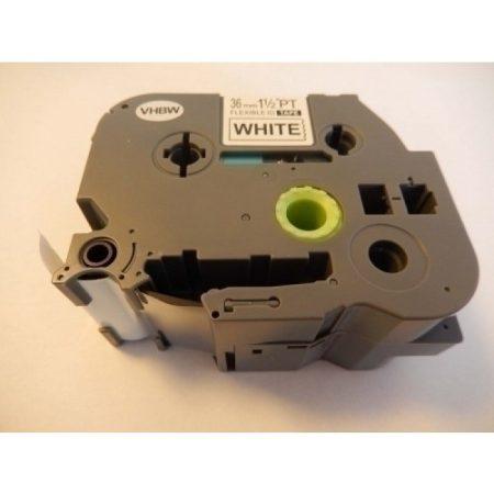 Brother TZe-FX261 P-Touch utángyártott feliratozószalag kazetta 36mm * 8m fehér alapon fekete