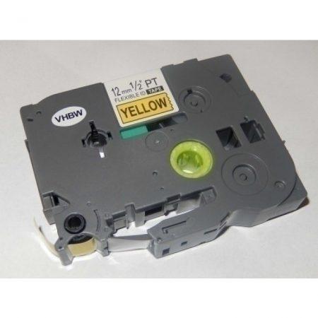 Brother TZe-FX631 P-Touch utángyártott feliratozószalag kazetta 12mm * 8m sárga alapon fekete