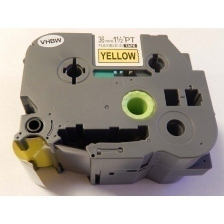 Brother TZe-FX661 P-Touch utángyártott feliratozószalag kazetta 36mm * 8m sárga alapon fekete