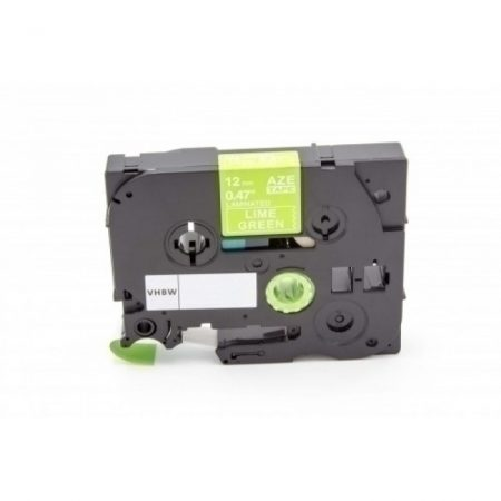 Brother TZE-MQG35 kompatibilis P-Touch matt feliratozószalag 12mm zöld alapon fehér