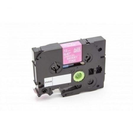 Brother TZe-MQP35 P-Touch utángyártott feliratozószalag kazetta 12mm * 5m rózsaszín alapon fehér