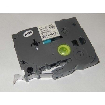 Brother TZe-SE3 P-Touch utángyártott biztonsági feliratozószalag kazetta 12mm * 8m fehér alapon fekete
