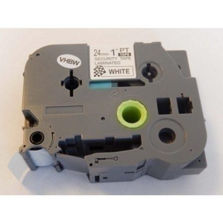 Brother TZe-SE5 P-Touch utángyártott feliratozószalag kazetta 24mm * 8m fehér alapon fekete