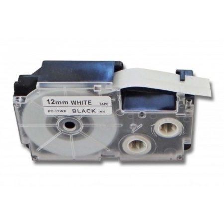 Casio XR-12WE1 PT-12WE1 utángyártott 12mm*8m feliratozószalag kazetta