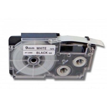 Casio XR-9WE1 PT-9WE1 utángyártott 9mm*8m papír feliratozószalag-kazetta